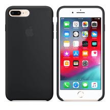 Capa-iPhone-8-Plus---7-Plus-de-Silicone---Preta
