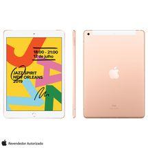 """iPad-7ª-Geracao-Apple-Tela-de-102""""-Wi-Fi---Cellular-128GB-4G-Processador-A10-Dourado----MW6G2BZ-A"""