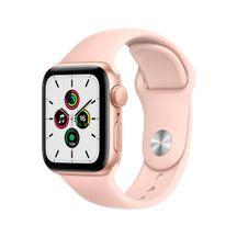 Apple-Watch-SE-GPS-40mm-Caixa-Dourada-de-Aluminio-com-Pulseira-Esportiva-Areia-Rosa
