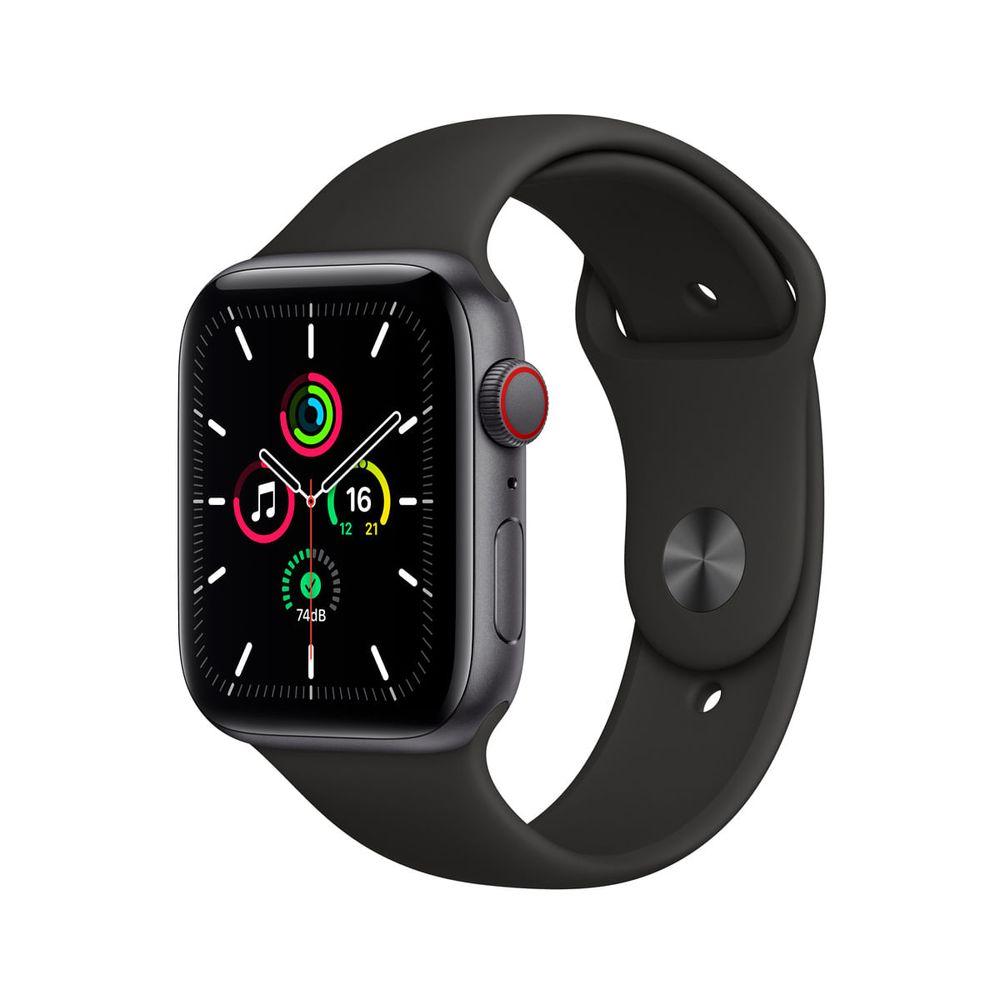 Apple-Watch-SE-GPS---Cellular-44mm-Caixa-Cinza-Espacial-de-Aluminio-com-Pulseira-Esportiva-Preta