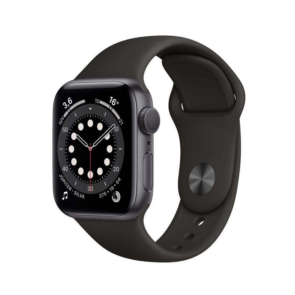 Apple-Watch-Series-6-GPS-40mm-Caixa-Cinza-Espacial-de-Aluminio-com-Pulseira-Esportiva-Preta