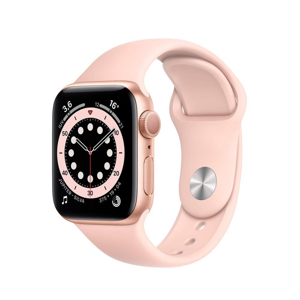Apple-Watch-Series-6--GPS--40mm-caixa-dourada-de-aluminio-com-pulseira-esportiva-areia-rosa