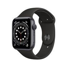 Apple-Watch-Series-6-GPS-44mm-Caixa-Cinza-Espacial-de-Aluminio-com-Pulseira-e-Esportiva-Preta