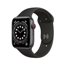 Apple-Watch-Series-6-GPS---Cellular-44mm-Caixa-Cinza-Espacial-de-Aluminio-com-Pulseira-Esportiva-Preta